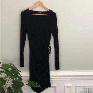 Black express long sleeve bodycon dress